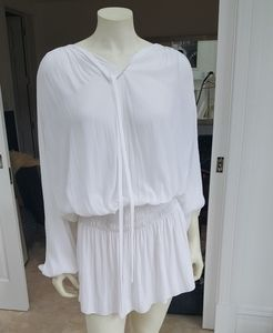 Ramy Brooke white tunic dress
